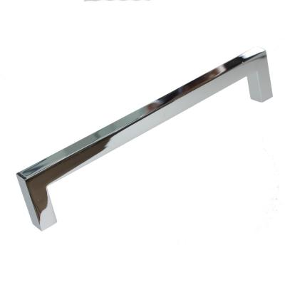 6-1/4 in. Center-to-Center Solid Square Slim Polished Chrome Cabinet Bar Pull (10-Pack)