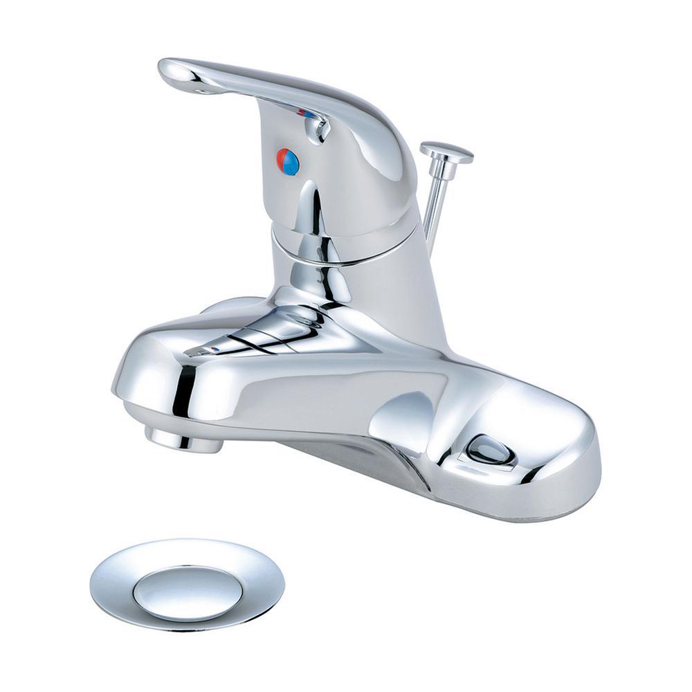Elite 4 in. Centerset Single-Handle Bathroom Faucet in Chrome