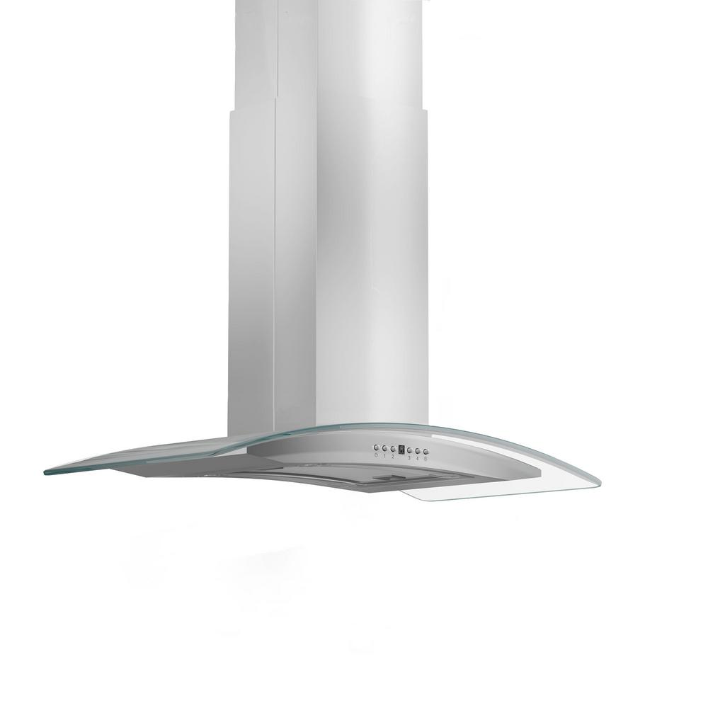 30 in. 760 CFM Island Mount Convertible Range Hood in Stainless
