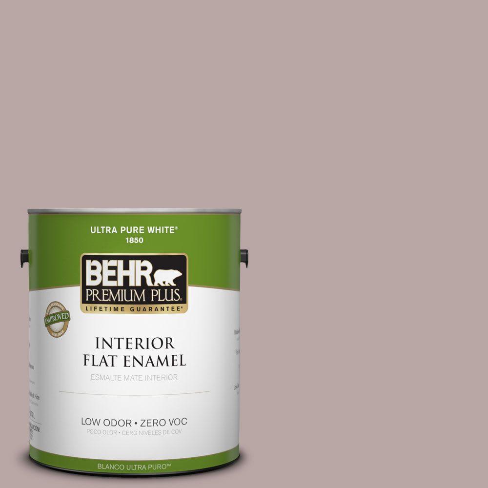 BEHR Premium Plus 1-gal. #750B-4 Prestige Zero VOC Flat Enamel Interior Paint-DISCONTINUED
