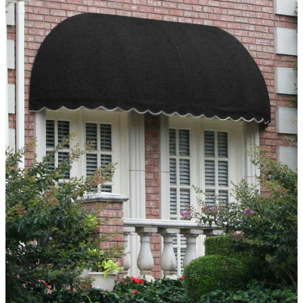AWNTECH 10 ft. Chicago Window/Entry Awning (31 in. H x 24 in. D) in Black