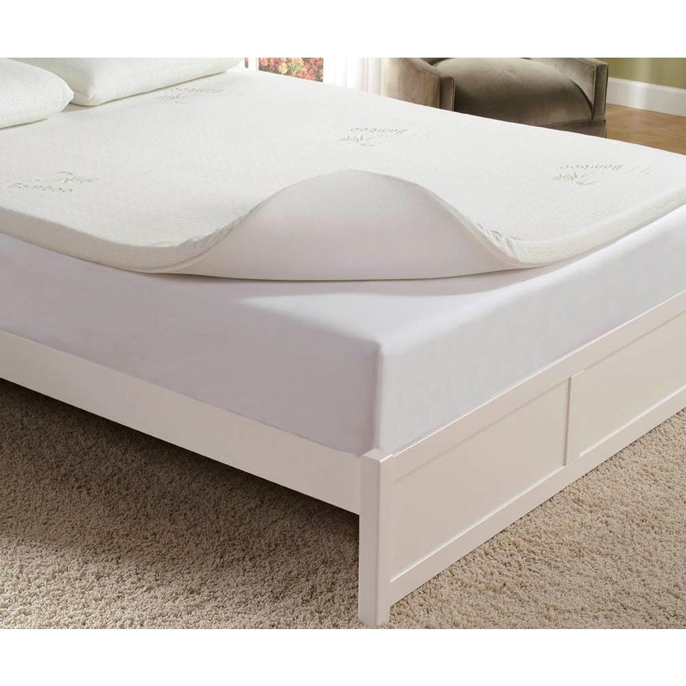 home fashions 2 in king memory foam mattress pad