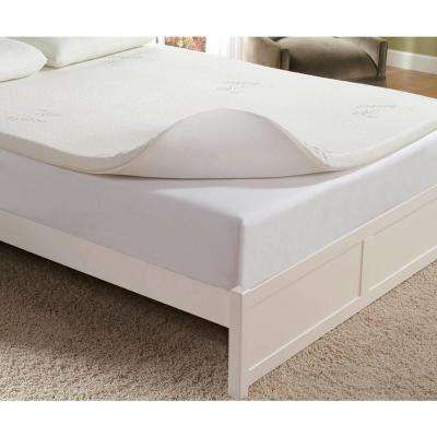 2 in. King Memory Foam Mattress Pad