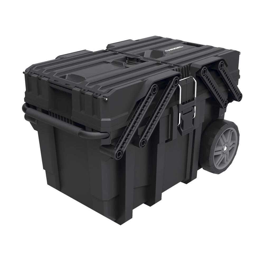 Mobile Tool Box Portable Storage 25 In. Cantilever Lid 18
