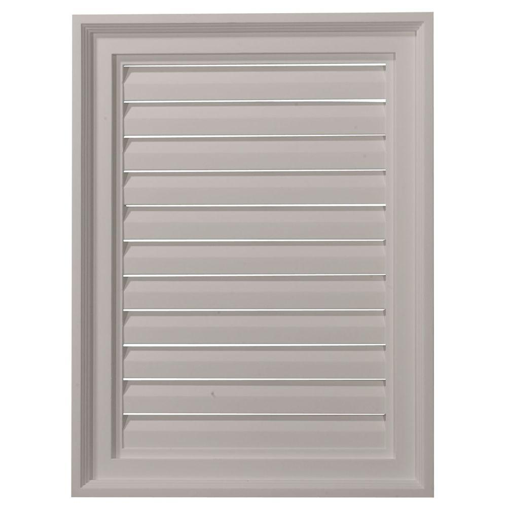 Ekena Millwork 2 in. x 18 in. x 24 in. Functional Vertical Gable Louver Vent