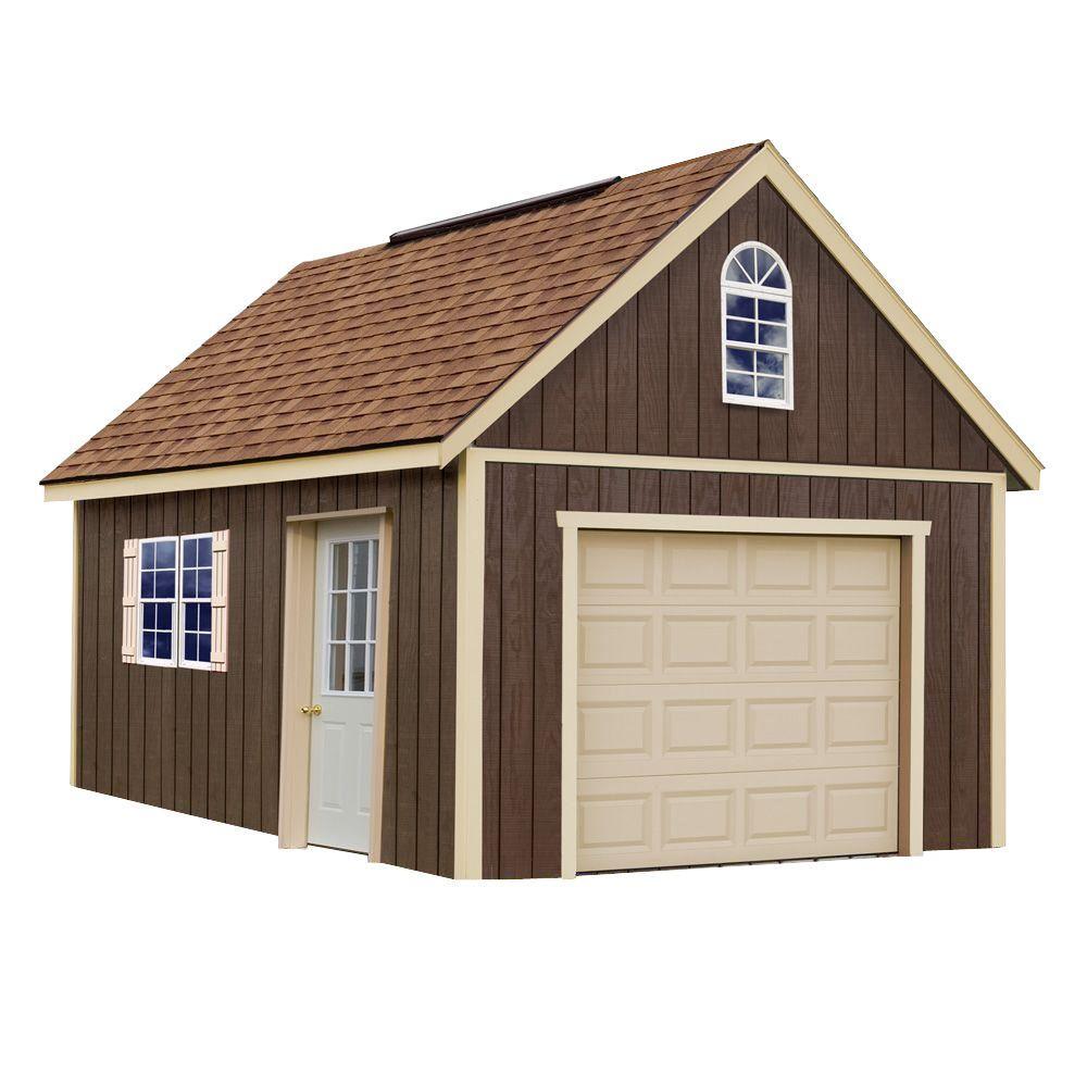 Best Barns Glenwood 12 ft. x 16 ft. Wood Garage Kit without Floor