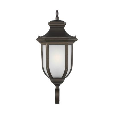 Childress 1-Light Antique Bronze Outdoor Wall Lantern