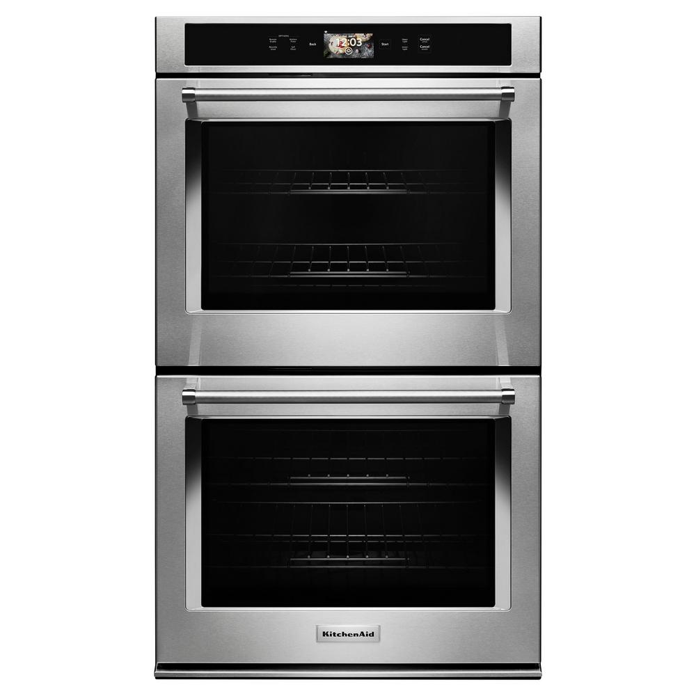 kitchenaid 30 in double electric smart wall oven with powered attachments in stainless steel dcs oven wiring diagram kitchenaid oven wiring diagram for wall #14