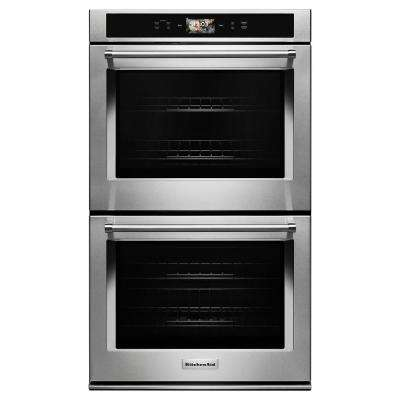30 in. Double Electric Smart Wall Oven with Powered Attachments in Stainless Steel