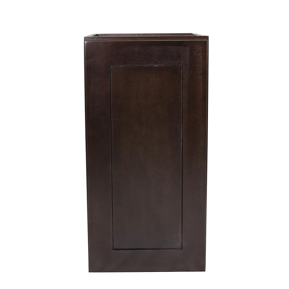 Brookings Fully Assembled 15x24x12 in. Kitchen Wall Cabinet in Espresso