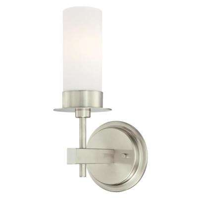 Roswell 1-Light Brushed Nickel Wall Mount Sconce