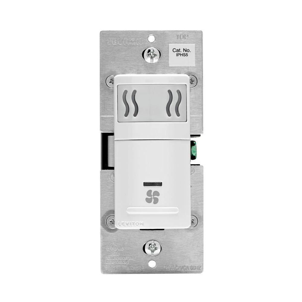Leviton 5 Amp Humidity Sensor Fan Speed Control, White by Leviton
