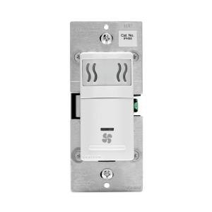 leviton decora in wall humidity sensor & fan control, 3 a, single pole, white r02 iphs5 0lw the home depot  leviton fan switch wiring diagram #10