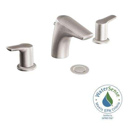 Method 8 in. Widespread 2-Handle Low-Arc Bathroom Faucet Trim Kit in Brushed Nickel (Valve Not Included)