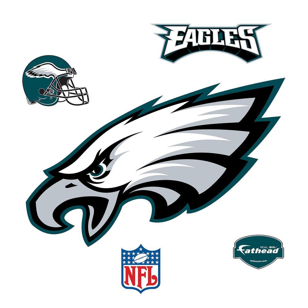 35 in. H x 50 in. W Philadelphia Eagles Logo Wall Mural