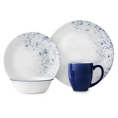 Vive 16-Piece Blue Speckles Indigo Speckle Dinnerware Set