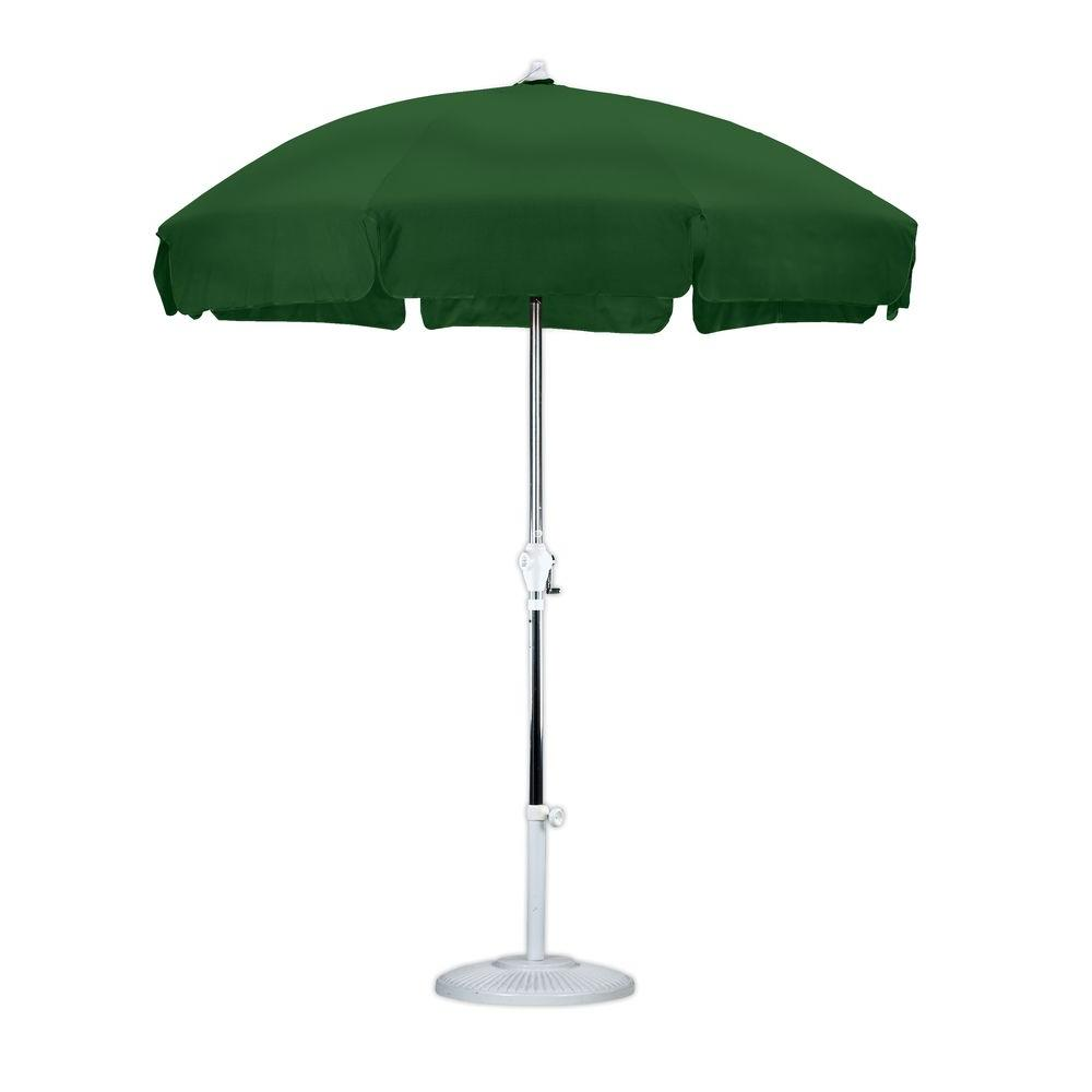 7-1/2 ft. Anodized Aluminum Push Tilt Patio Umbrella in Hunter Green