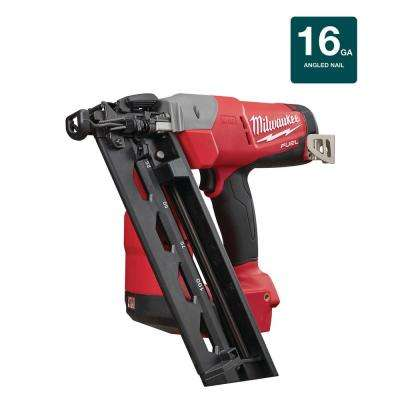 M18 FUEL 18-Volt Lithium-Ion Brushless Cordless 16-Gauge Angled Finish Nailer (Tool Only)