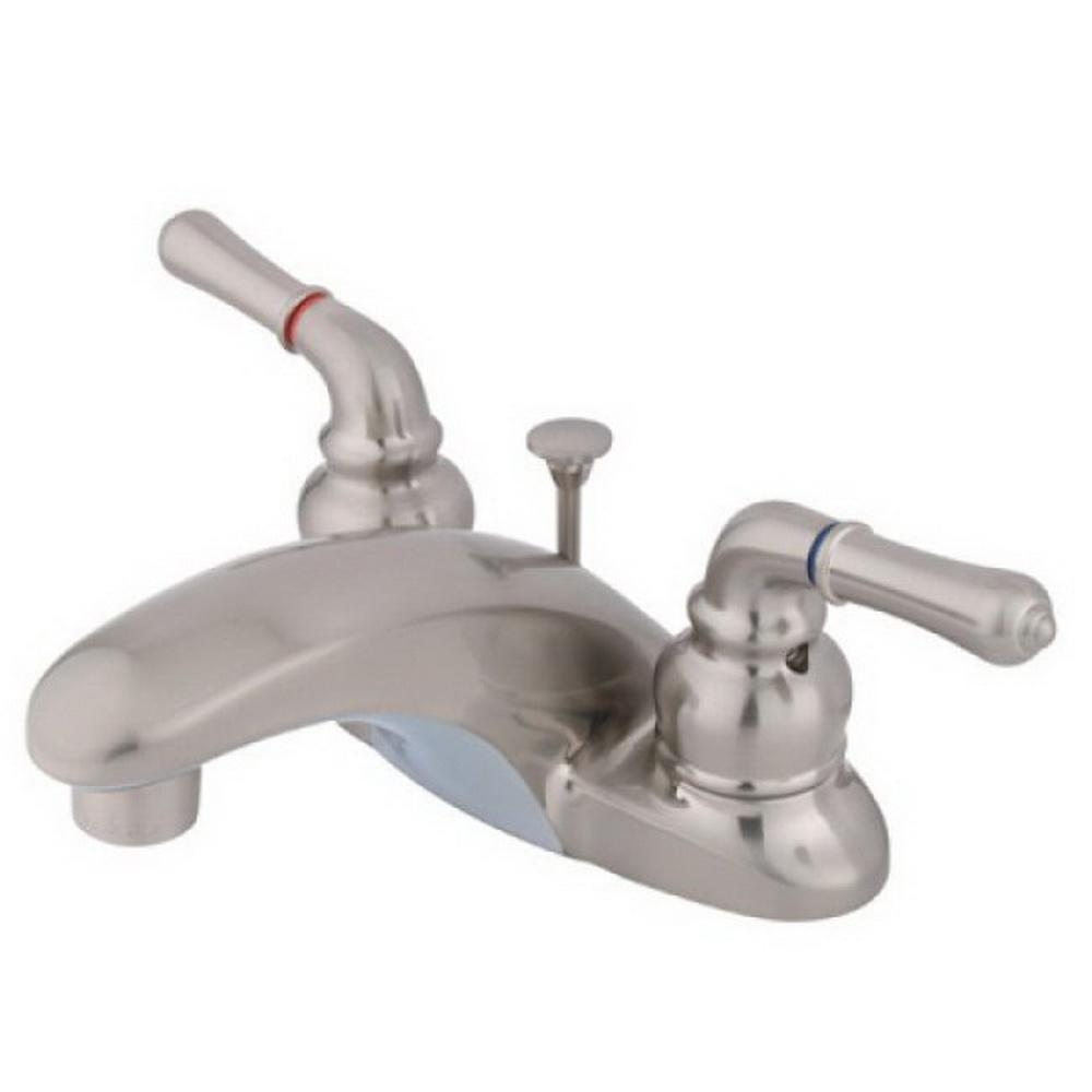 Kingston Brass Brimfield 4 in. Centerset 2-Handle High-Arc Bathroom Faucet in Brushed Nickel