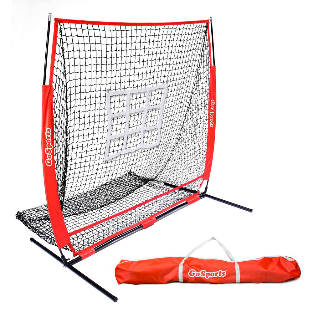 GOSPORTS 5 ft. x 5 ft. Baseball and Softball Practice Pitching and ...