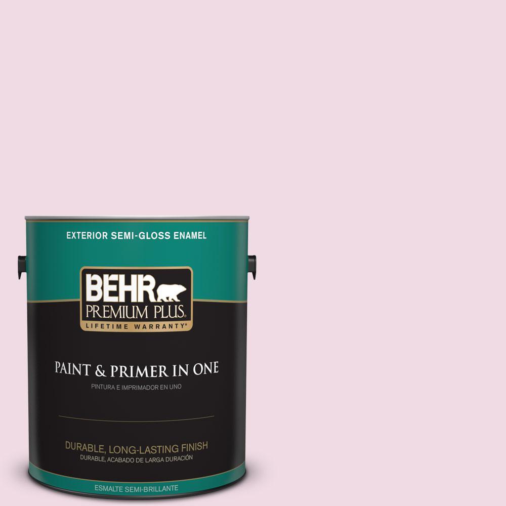 1-gal. #M130-1 Pink Posies Semi-Gloss Enamel Exterior Paint