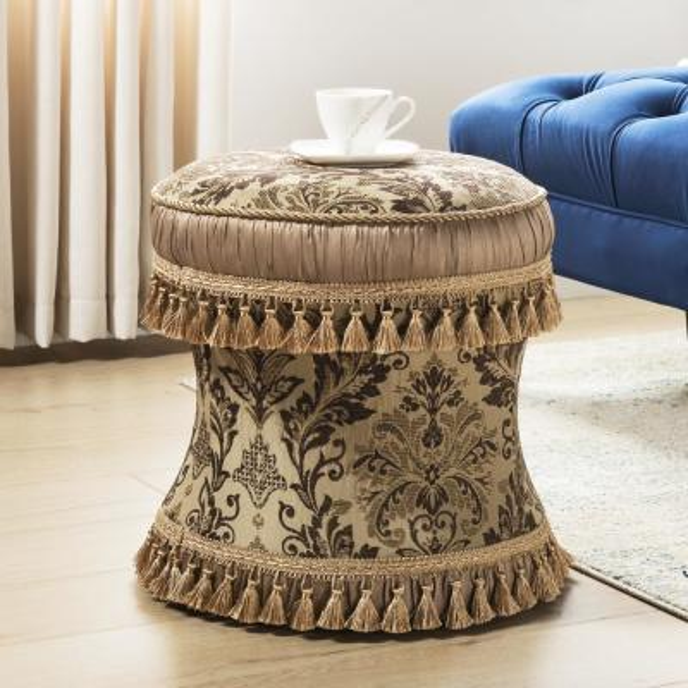 Leona Brown Decorative Ottoman