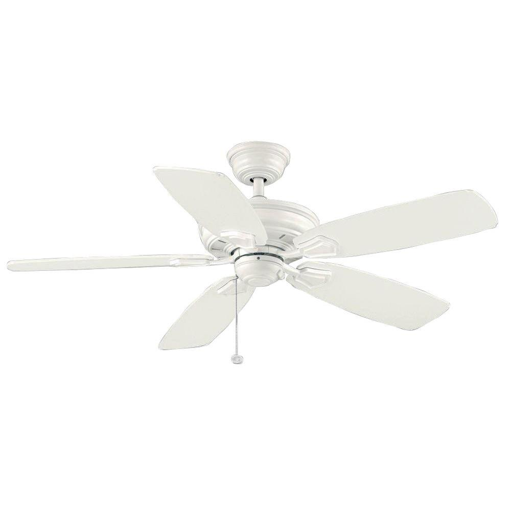 Hampton Bay Heirloom 52 In Indoor Outdoor Matte White Ceiling Fan