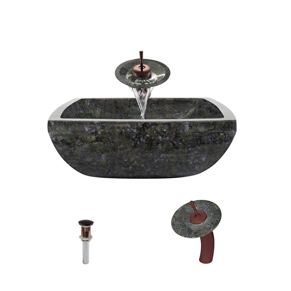 Mr Direct Stone Vessel Sink In Butterfly Blue Granite With