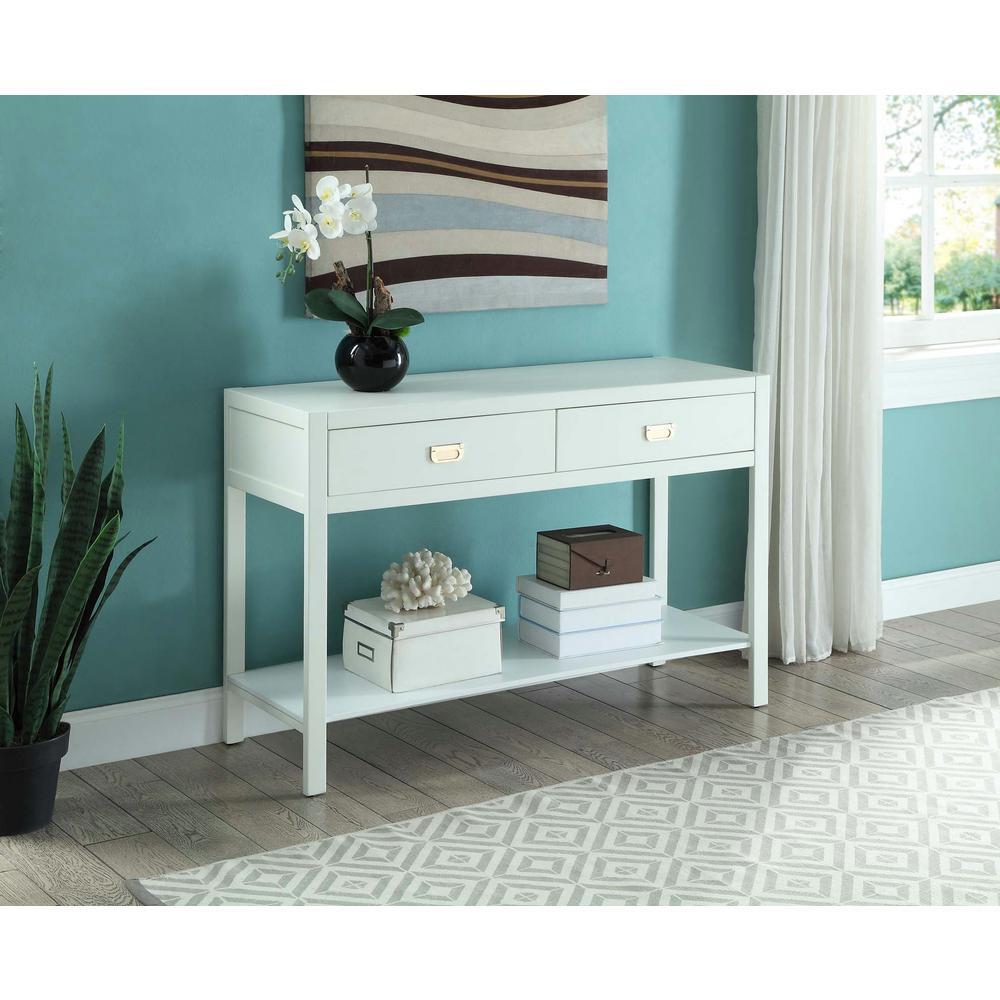 Linon Home Decor Linon Home Decor Peggy White Console Table
