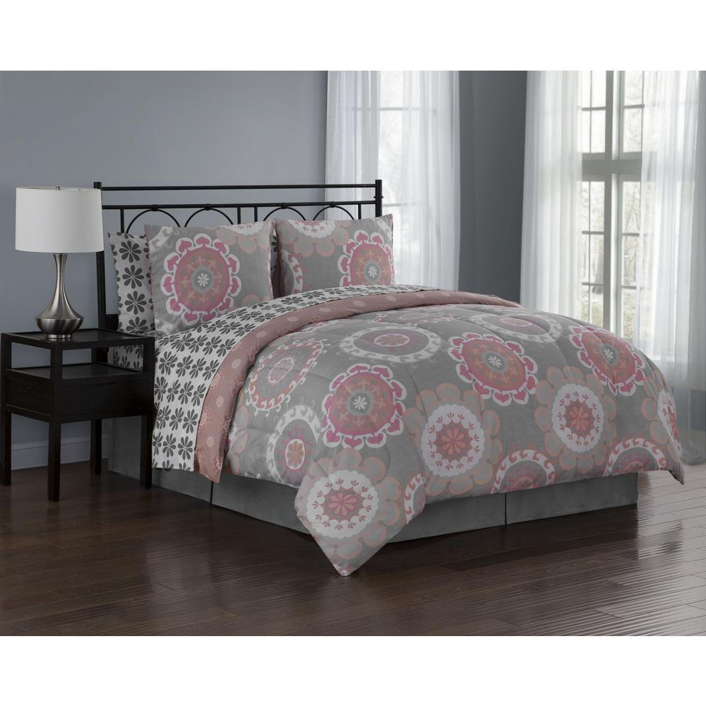 Elsa BIAB 8 Piece King Coral Comforter