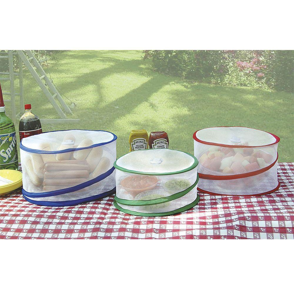 Chef Buddy Pop Up Outdoor Food Covers Set Of 3 82 4579 The Home