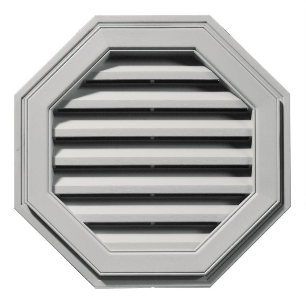 Builders Edge 22 in. Octagon Gable Vent in Paintable