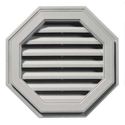 22 in. Octagon Gable Vent in Paintable