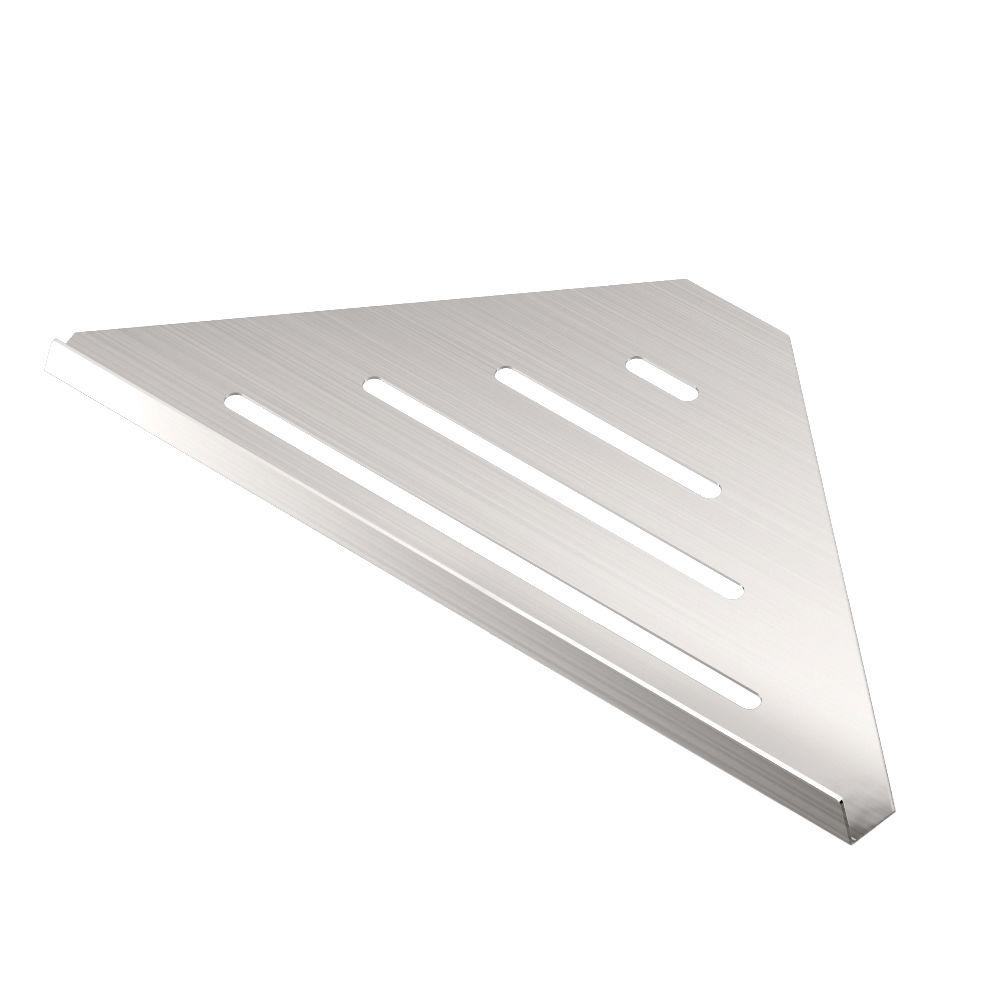 W Elegant Corner Shelf In Brushed Nickel