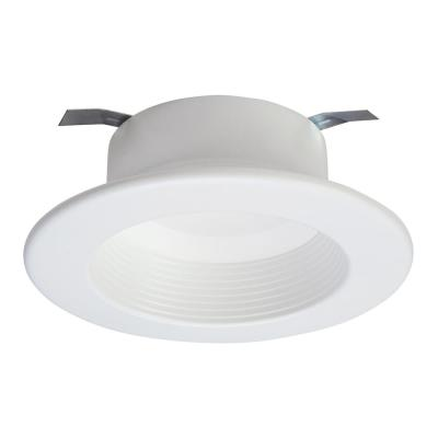 RL4 Series 4 in. Soft White Selectable CCT Integrated LED Recessed Light with Retrofit Baffle White Trim