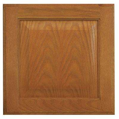 12.75x12.75 in. Cabinet Door Sample in Hampton Medium Oak
