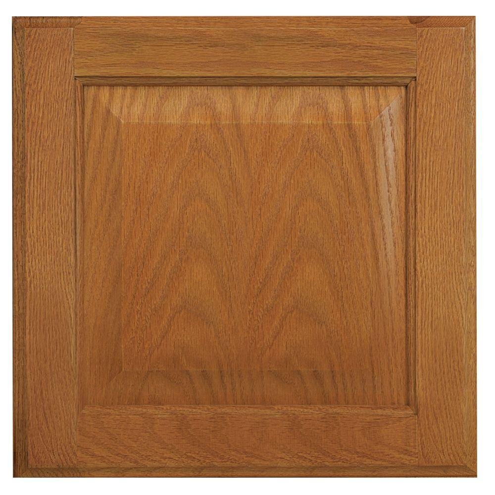 Hampton Bay 12 75x12 75 In Cabinet Door Sample In Hampton Medium Oak Hbksmpldr Mo The Home Depot