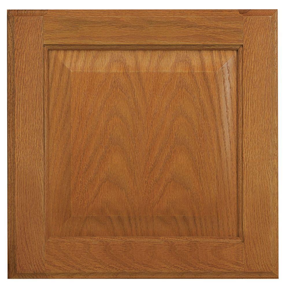 12.75x12.75 in. Cabinet Door Sample in Hampton Medium Oak
