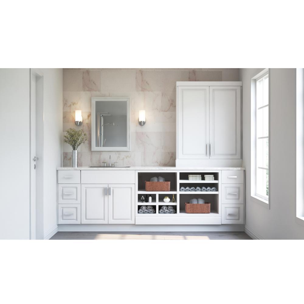Hampton Bay Hampton Assembled 24x30x12 In Diagonal Corner Wall Kitchen Cabinet In Satin White Kwd2430 Sw The Home Depot