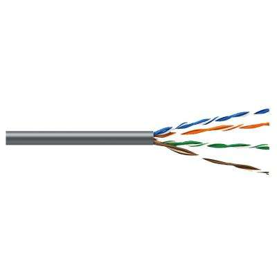Cat5E 100 ft. Gray 24-4 Riser Twisted Pair Cable
