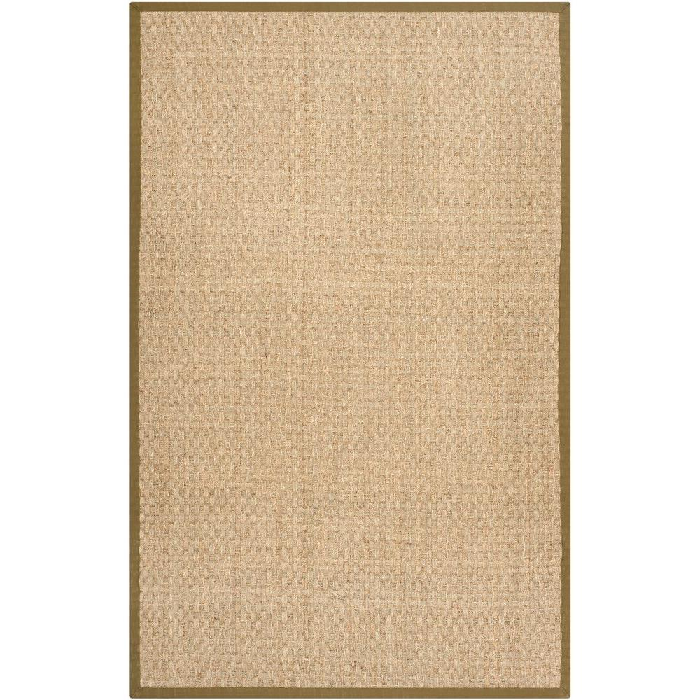 Natural Fiber Beige/Olive 3 ft. x 5 ft. Area Rug