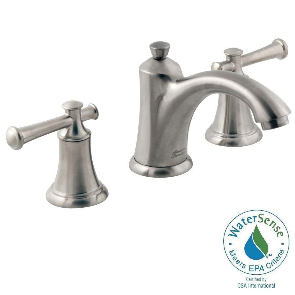 Portsmouth 8 in. Widespread 2-Handle Mid-Arc Bathroom Faucet in Brushed Nickel