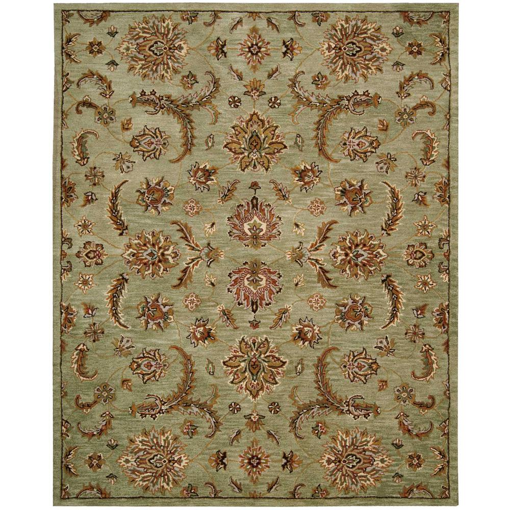 India House Light Green 8 Ft X 11 Area Rug