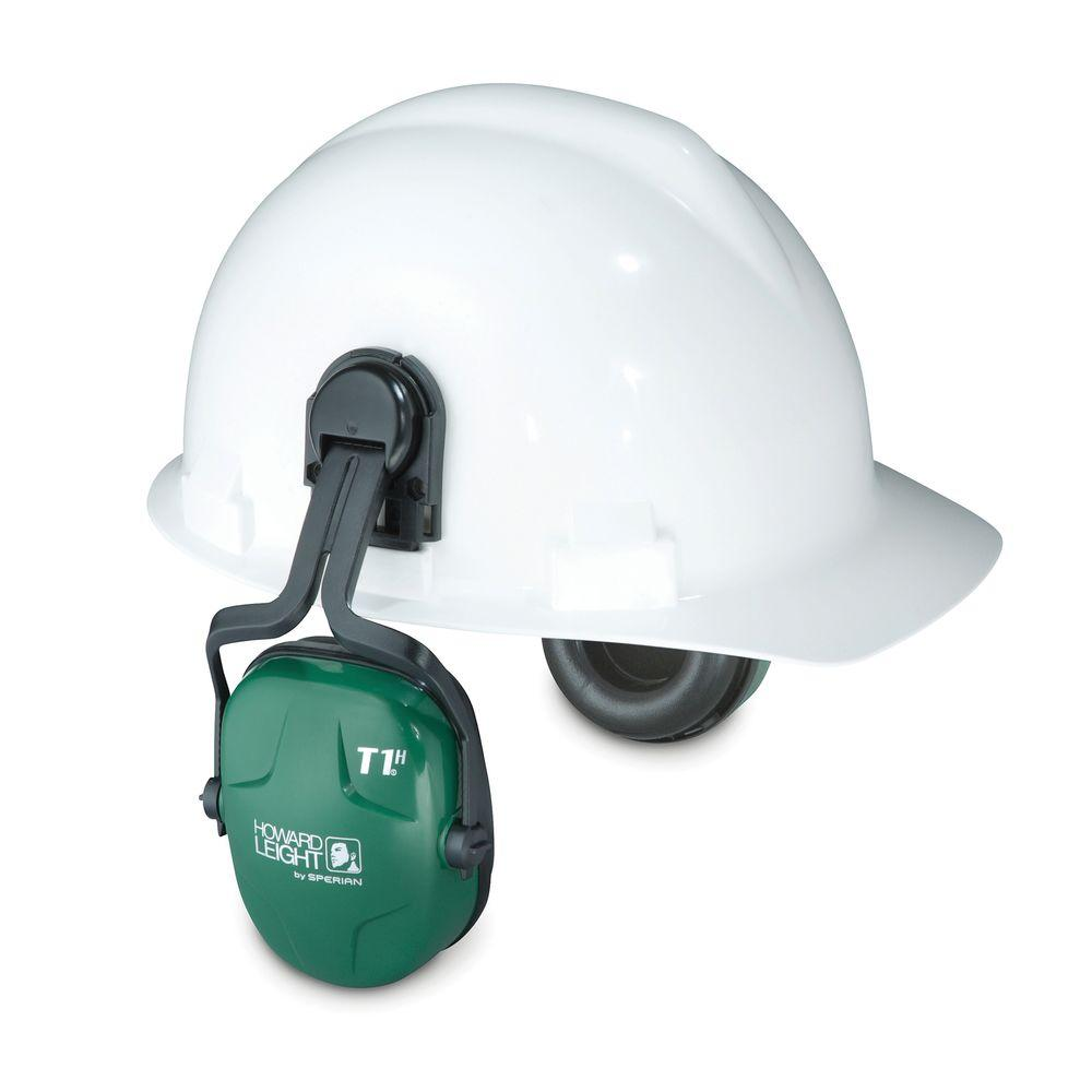 Howard Leight Thunder T1H Noise Blocking Cap-Mounted Earmuffs with 13910039 Cap-Mount Adapter