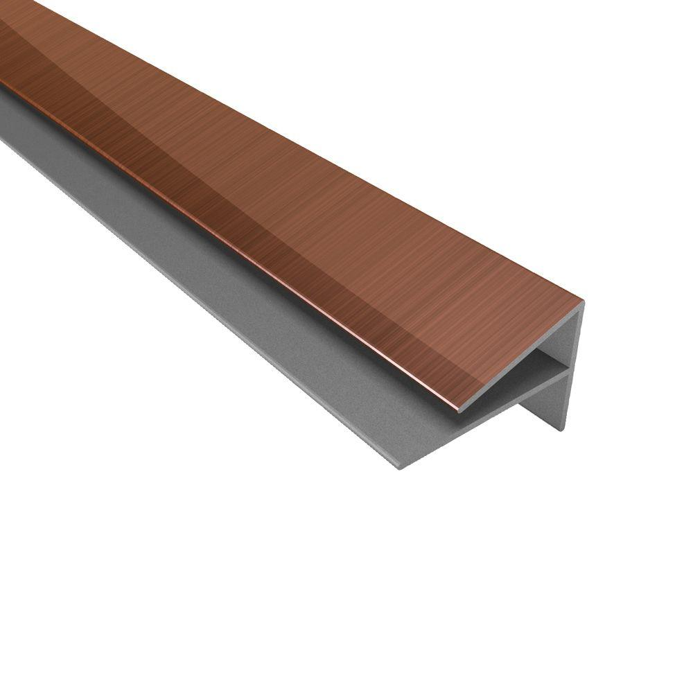 Fasade 4 ft. Polished Copper Outside Corner Trim