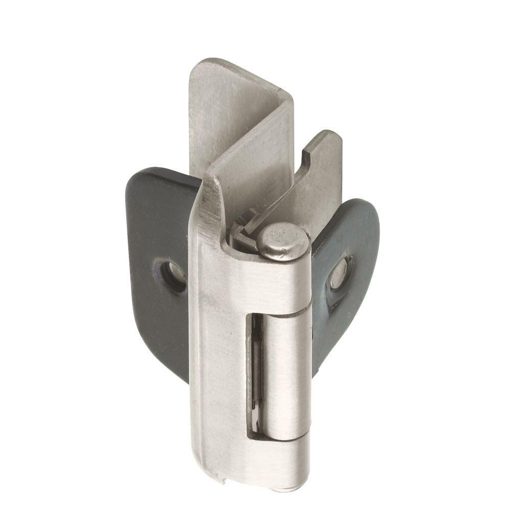 Amerock 1 2in 13 Mm Overlay Double Demountable Satin Nickel Hinge