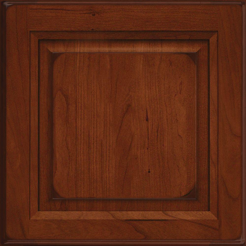 KraftMaid 15x15 in. Cabinet Door Sample in Victoria Cherry ...