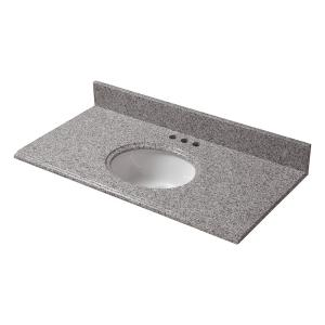 Lovely Pegasus 31 In. W Granite Vanity Top In Napoli With White Bowl And 4 In.  Faucet Spread 31196   The Home Depot