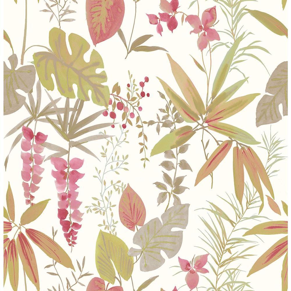 A-Street Descano Flower Pink Botanical Wallpaper 2656-004014
