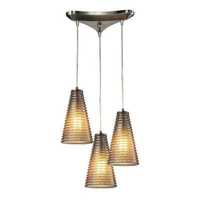 Hermosa Collection 3-Light Satin Nickel Mini Pendant